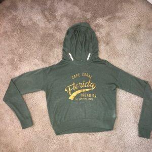 Girls H&M knitted crop top hoodie